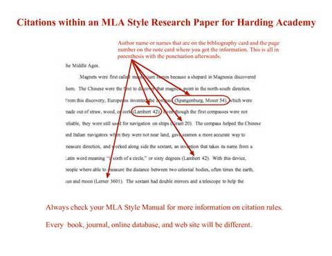 cite in paper research